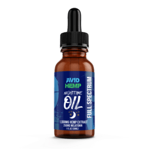 CBDNighttimeOil Mint 1000mg AvidHemp 2