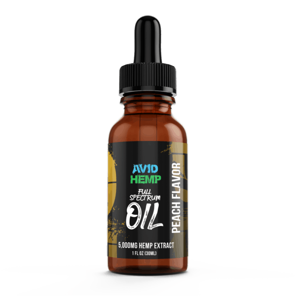 CBD Oil 5,000mg Peach Avid Hemp