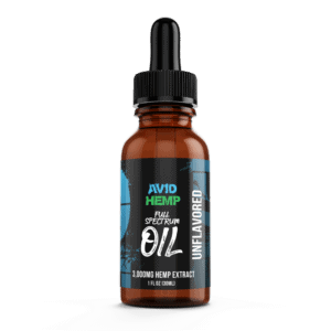 CBDOil Unflavored 3000mg AvidHemp