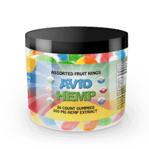 CBD Gummy Rings 30ct 500mg Avid Hemp