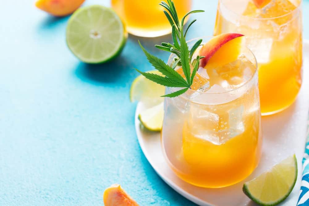 CBD Peach Iced Tea