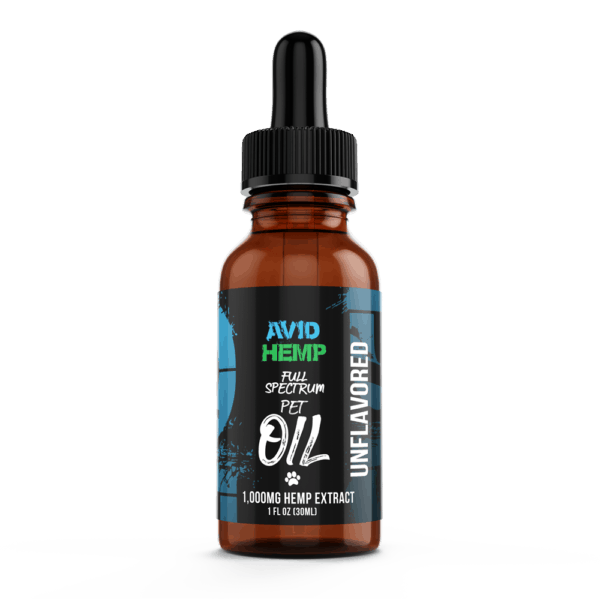 CBD Pet Oil 1,000mg Avid Hemp