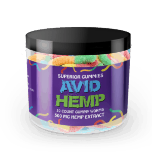 CBD Gummy Worms 500mg Avid Hemp