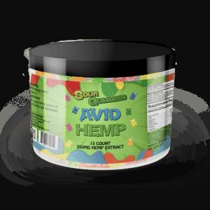 Avid Hemp CBD Sour Gummy Bears 250mg 15ct