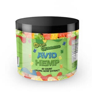CBD Sour Gummy Bears 1,000mg